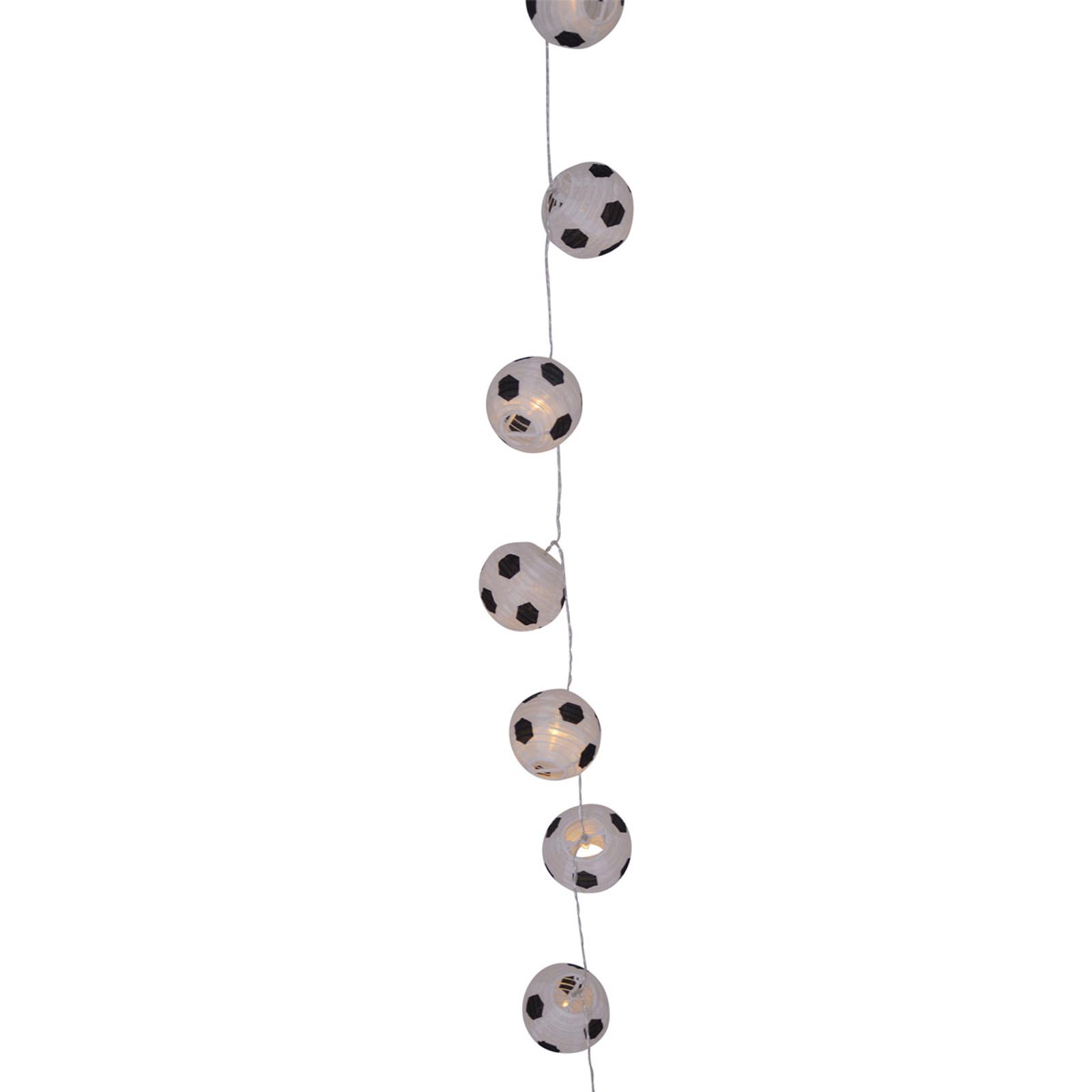 LED-ljusslinga Kizi med fotbollar batteridriven