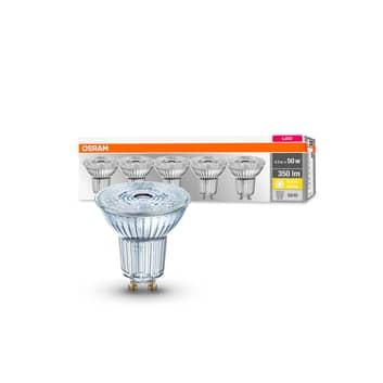 OSRAM LED reflektor GU10 4,3W 36° 2700K 350lm 5ks