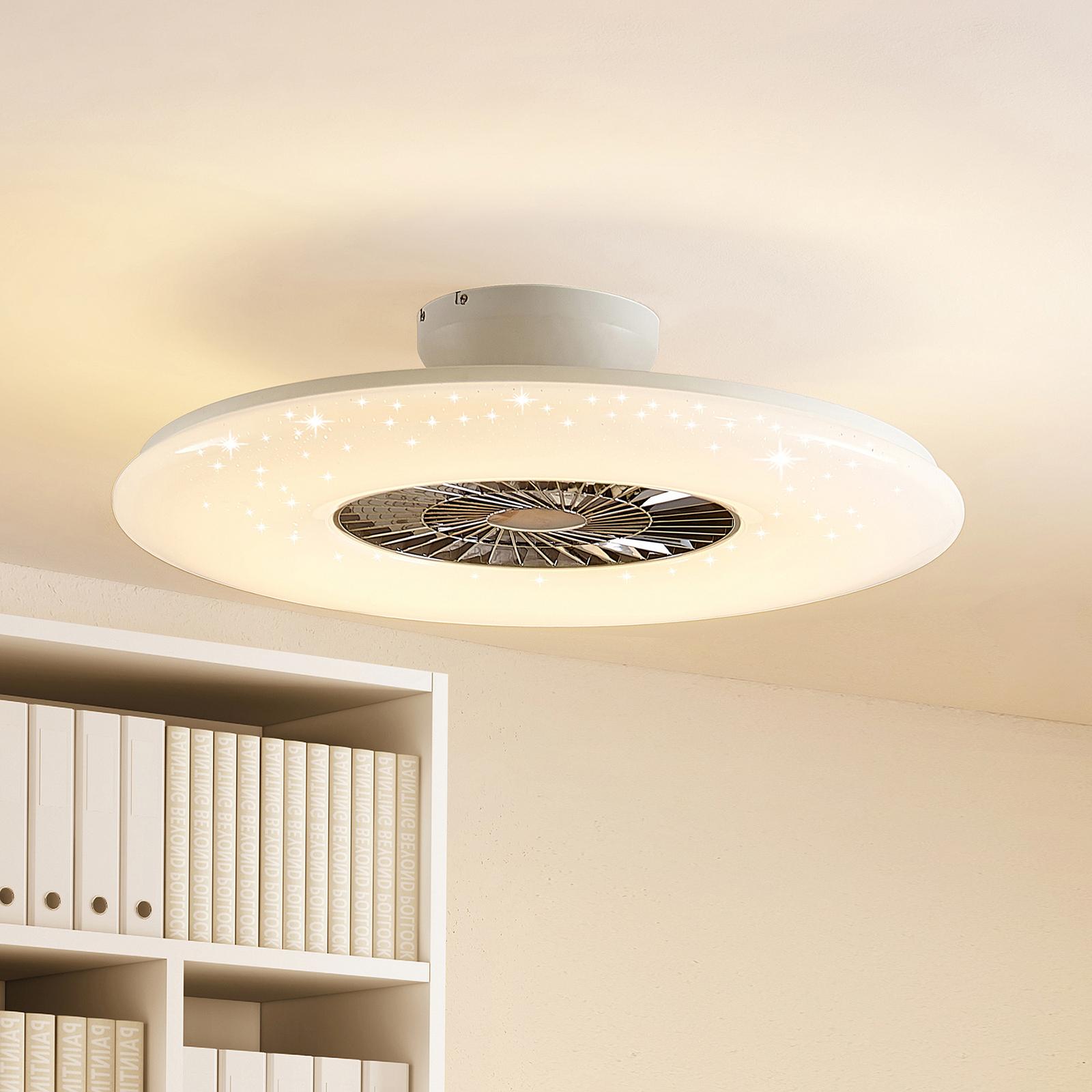 Lindby Klamina ventilatore a pale LED con luce