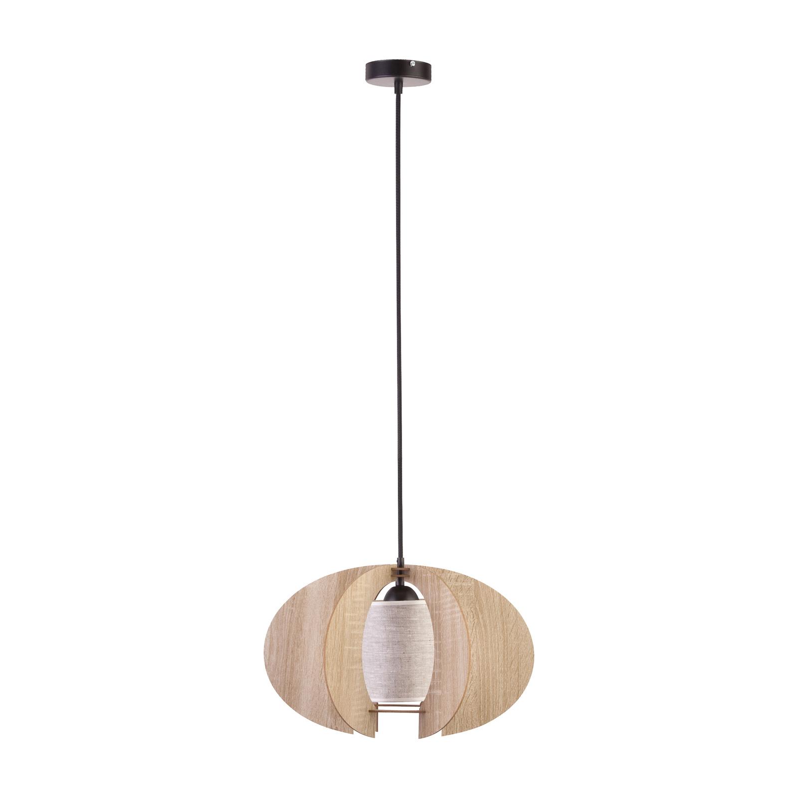 Lampa wisząca Modern C drewniane listwy, Ø 50 cm