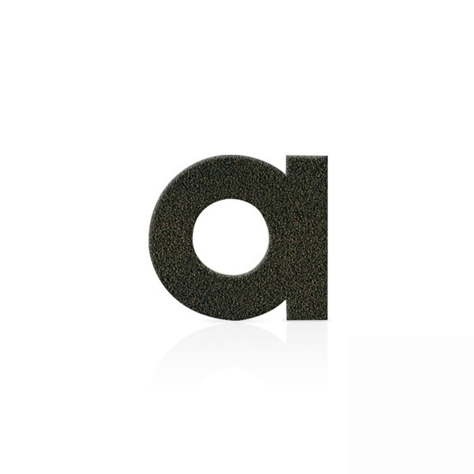 Roestvrijstalen huisnummers letter a, mokkabruin