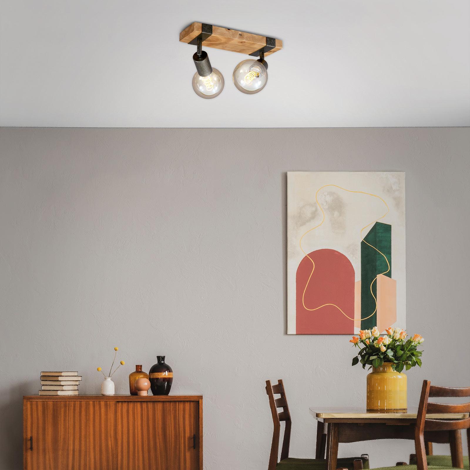 Lampa sufitowa Wood Basic, 2-punktowa
