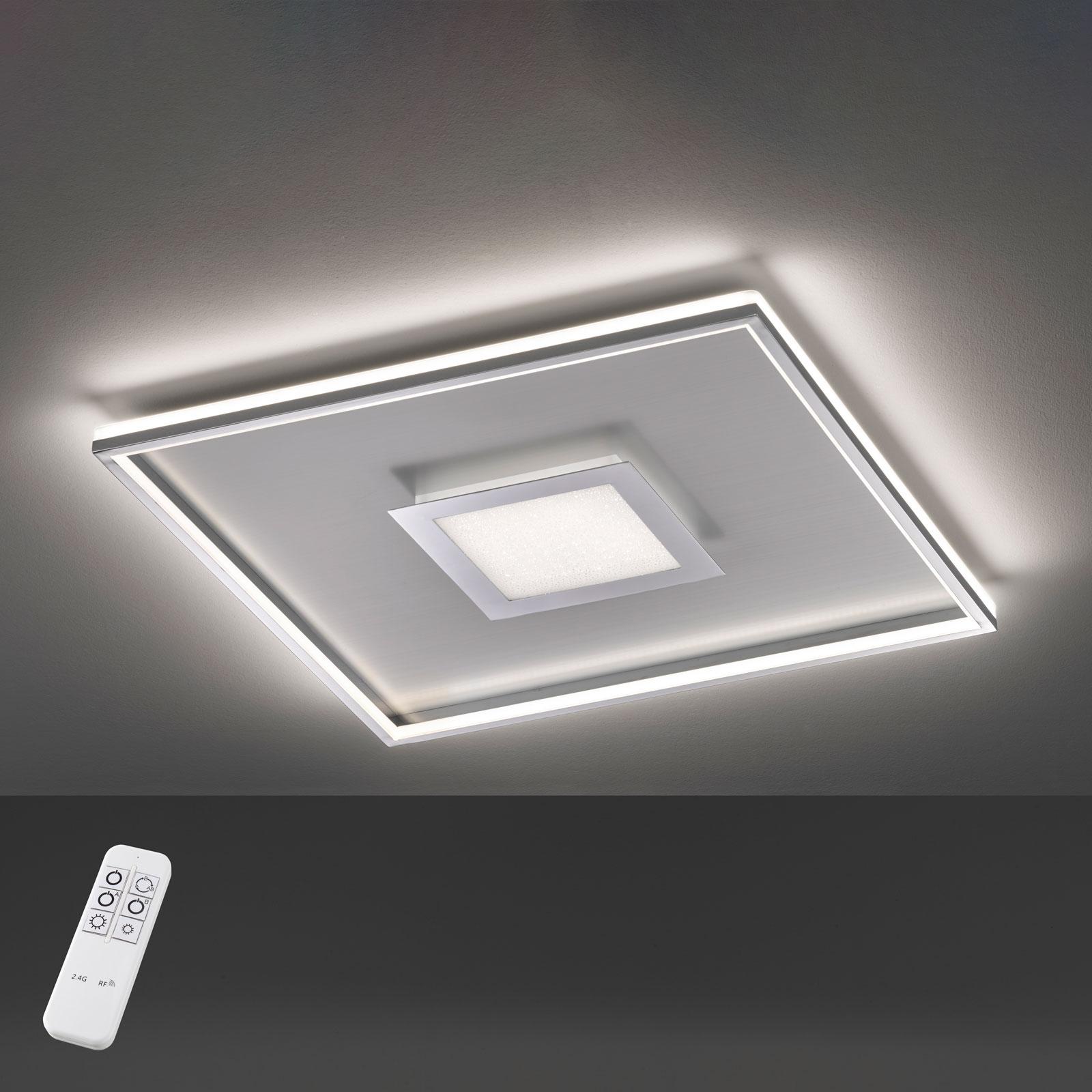 Lampa sufitowa LED Bug kwadratowa, chrom 80x80cm