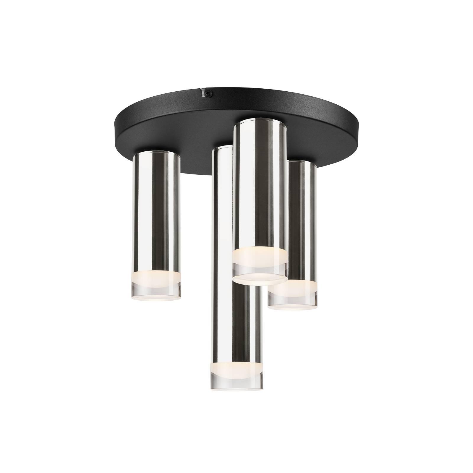 Plafoniera Shine, 4 luci, rotonda, cromo