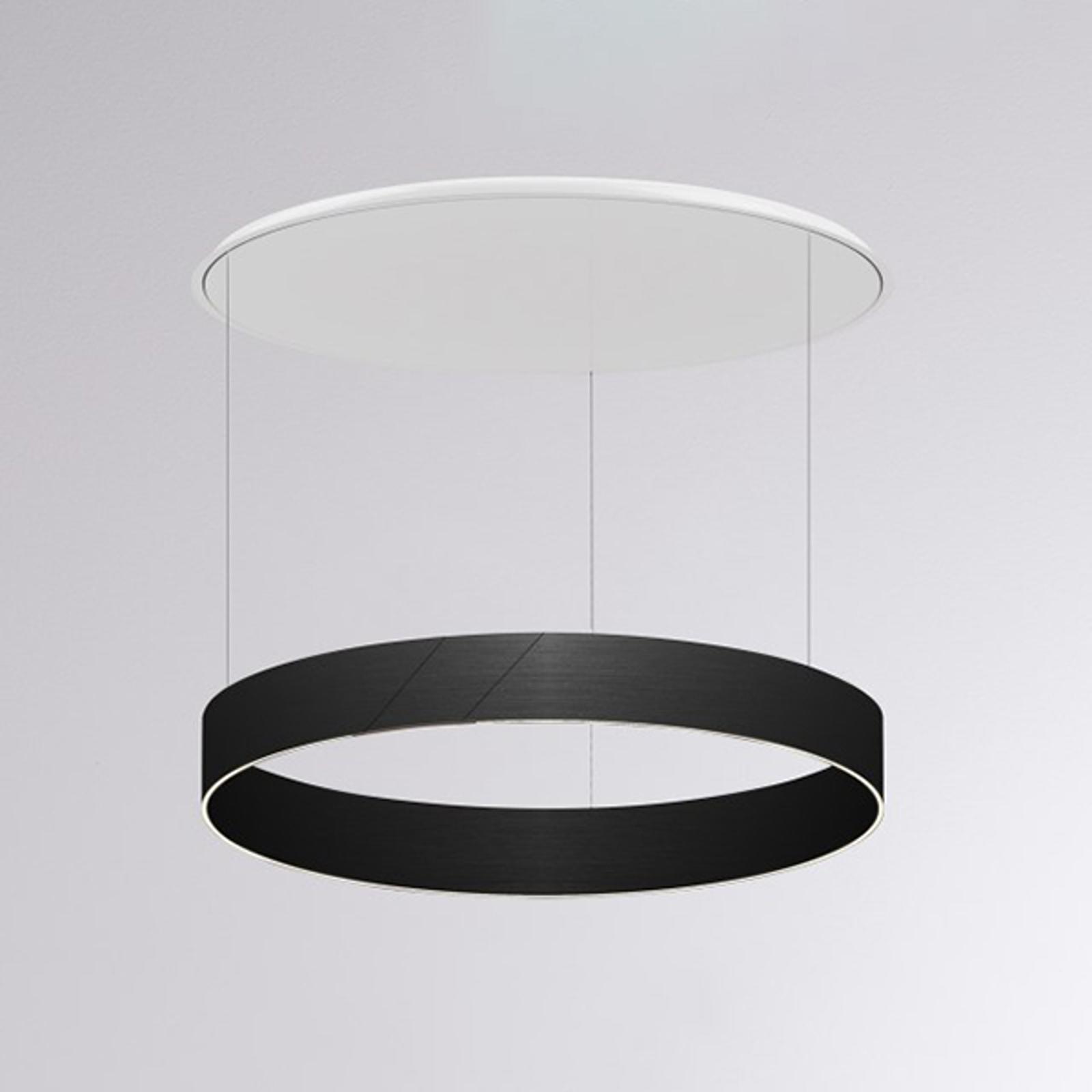 Lampa wisząca LED After 8 Round 1-10V czarna