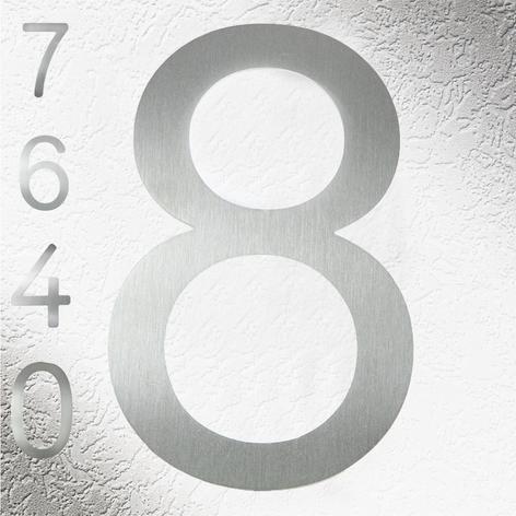 Hochwertige Hausnummern aus Edelstahl