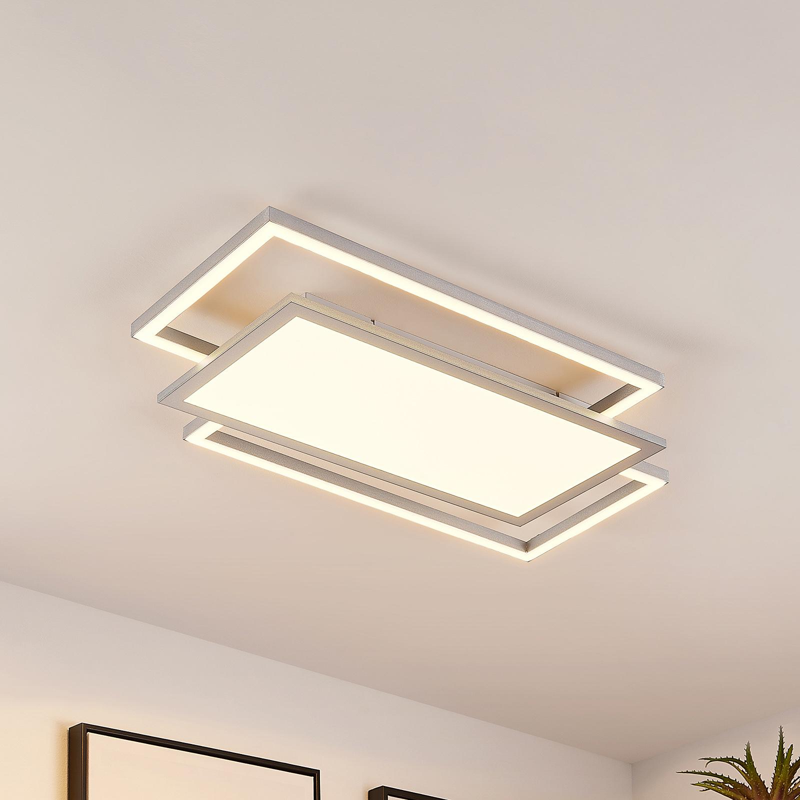 Lucande Ciaran plafonnier LED, rectangles