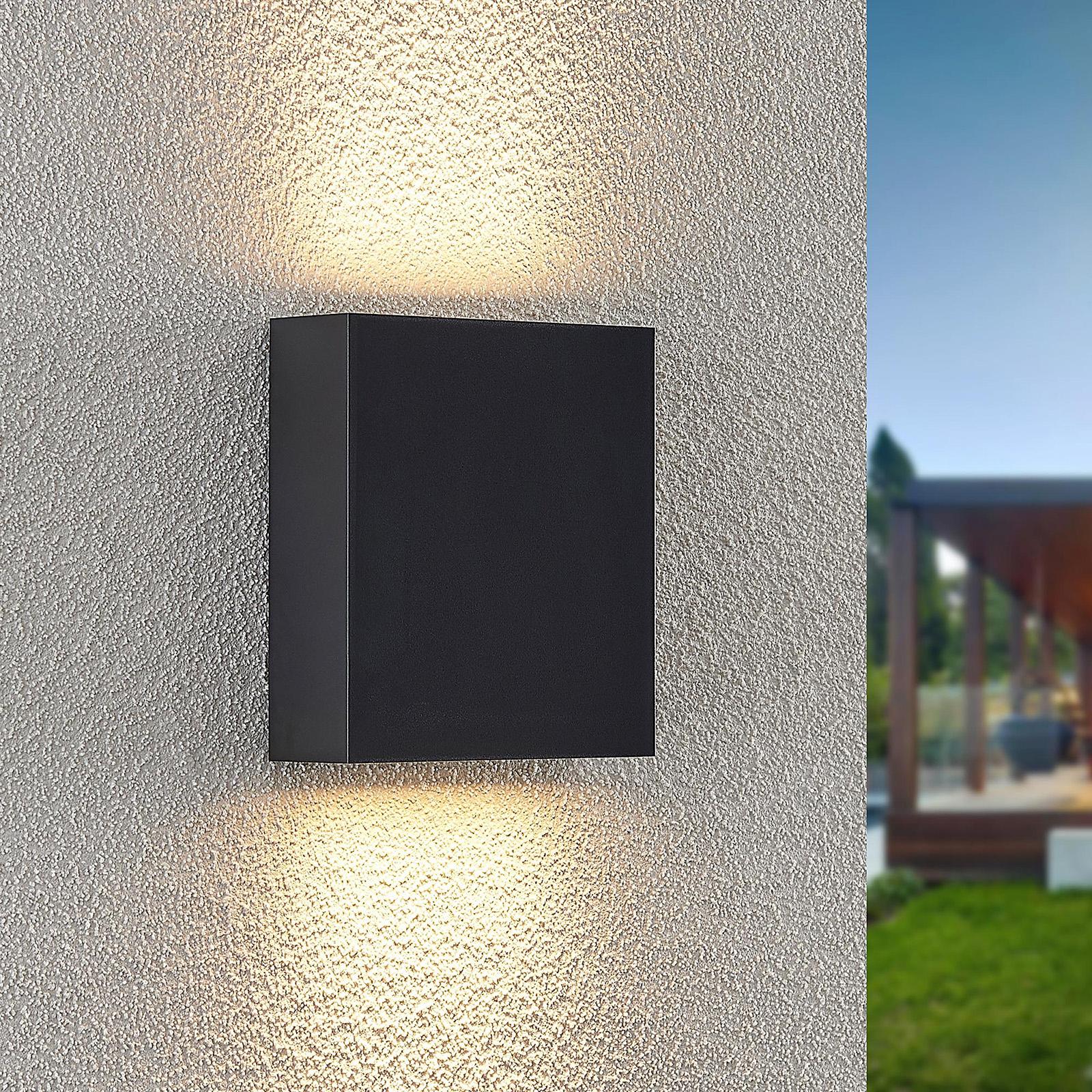 Lindby Ugar utendørs LED-vegglampe, 13 cm up/down