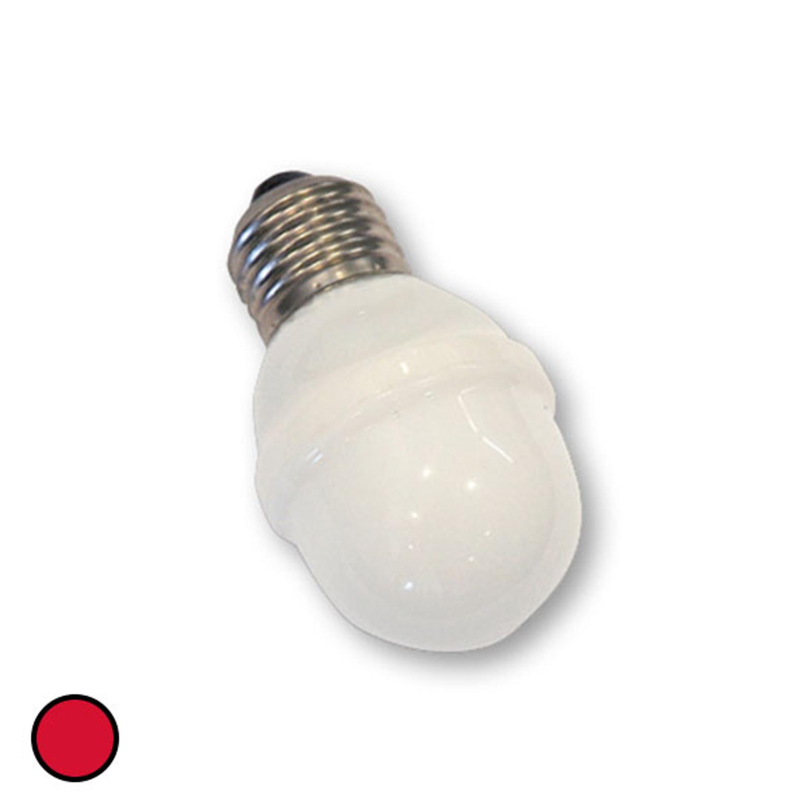 E27 Golfball-Lampe 1W 5,5 VA rot