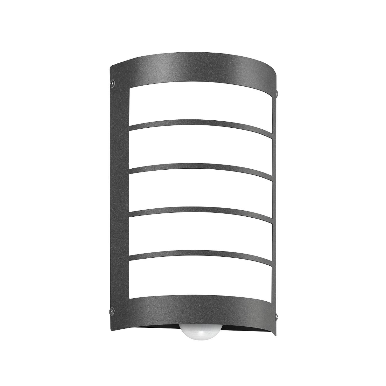 Sensor-Außenlampe Aqua Marco mit Raster, anthrazit