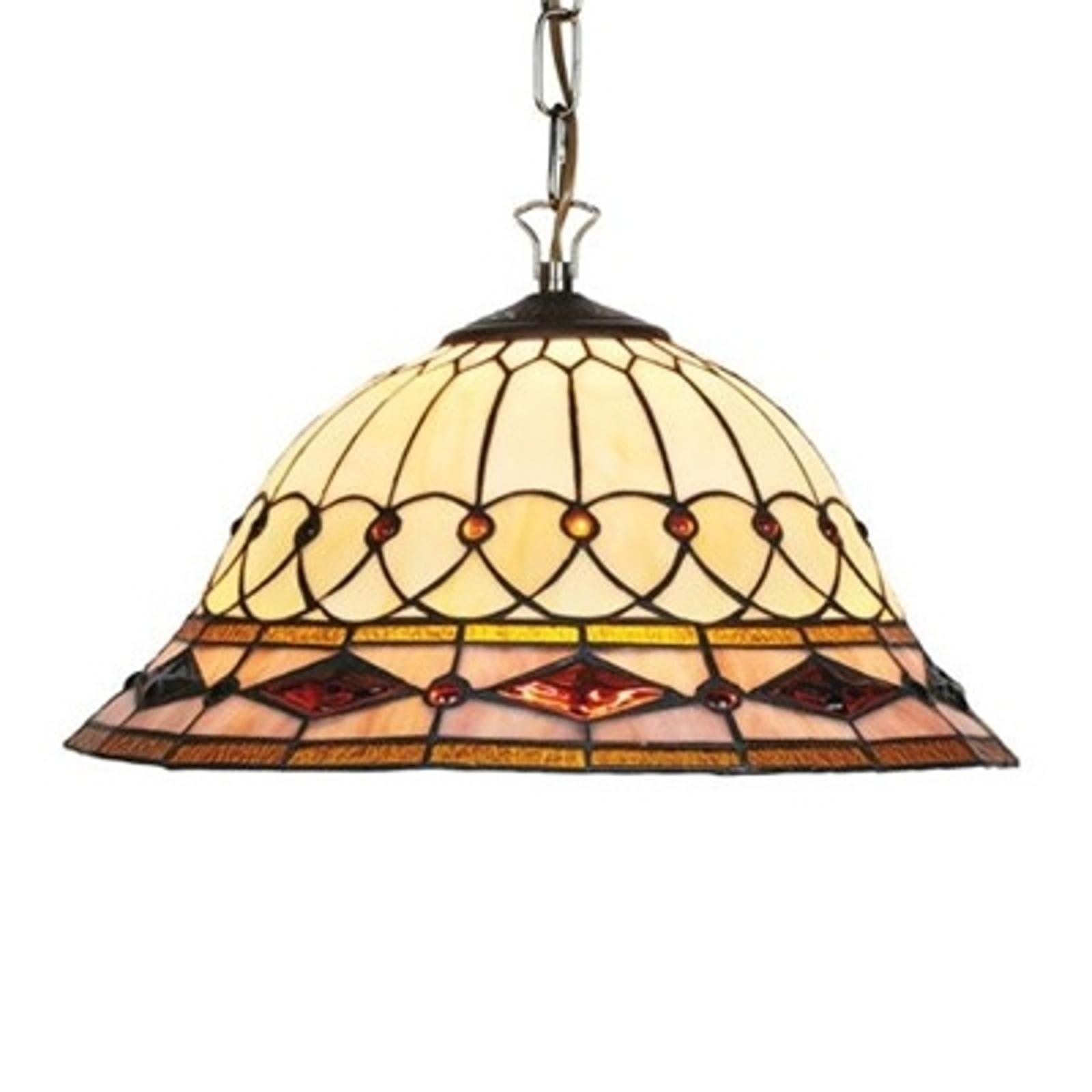 Lámpara colgante Kassandra estilo Tiffany, 1xE27