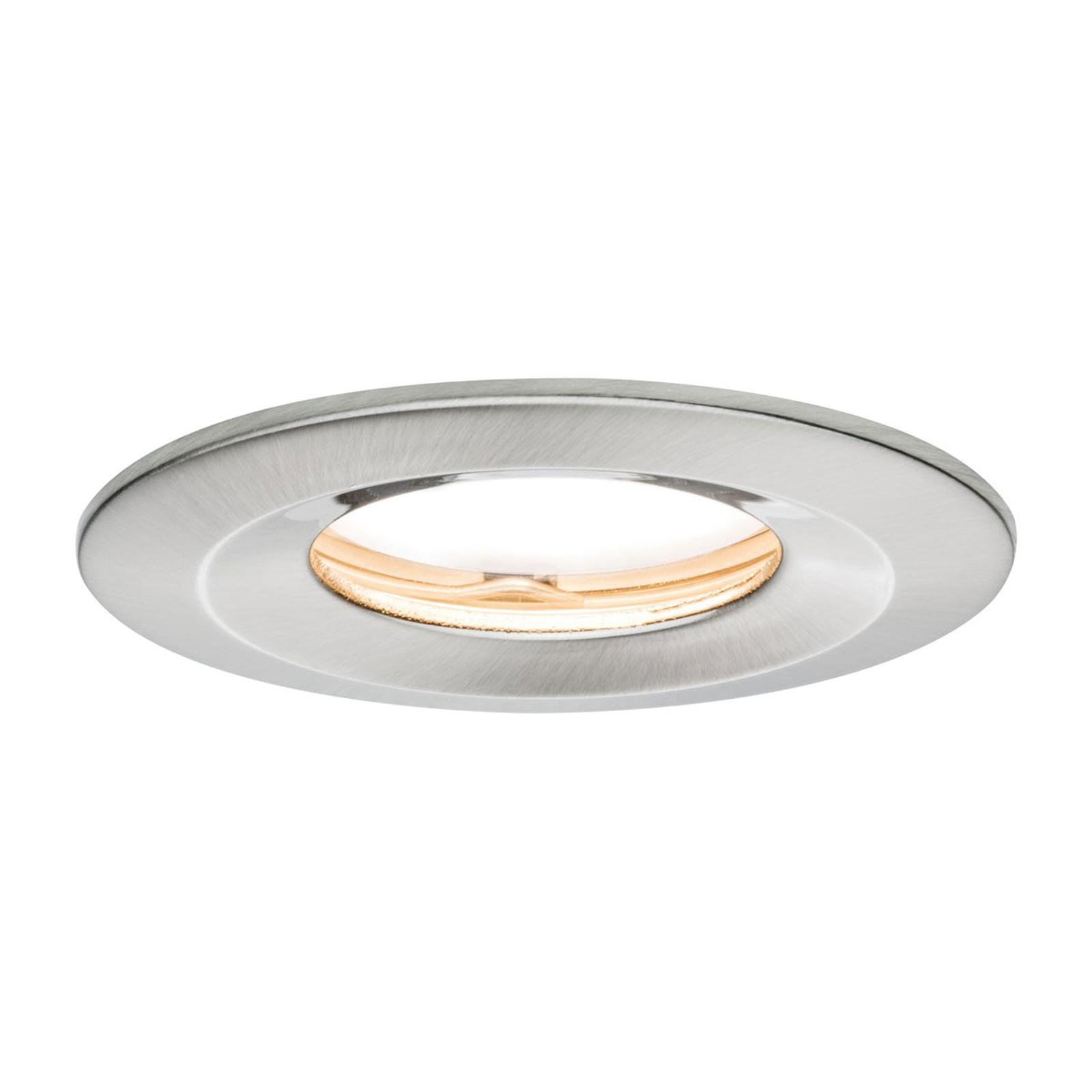 Paulmann LED-Spot Slim Coin, dimmbar, IP65, Eisen
