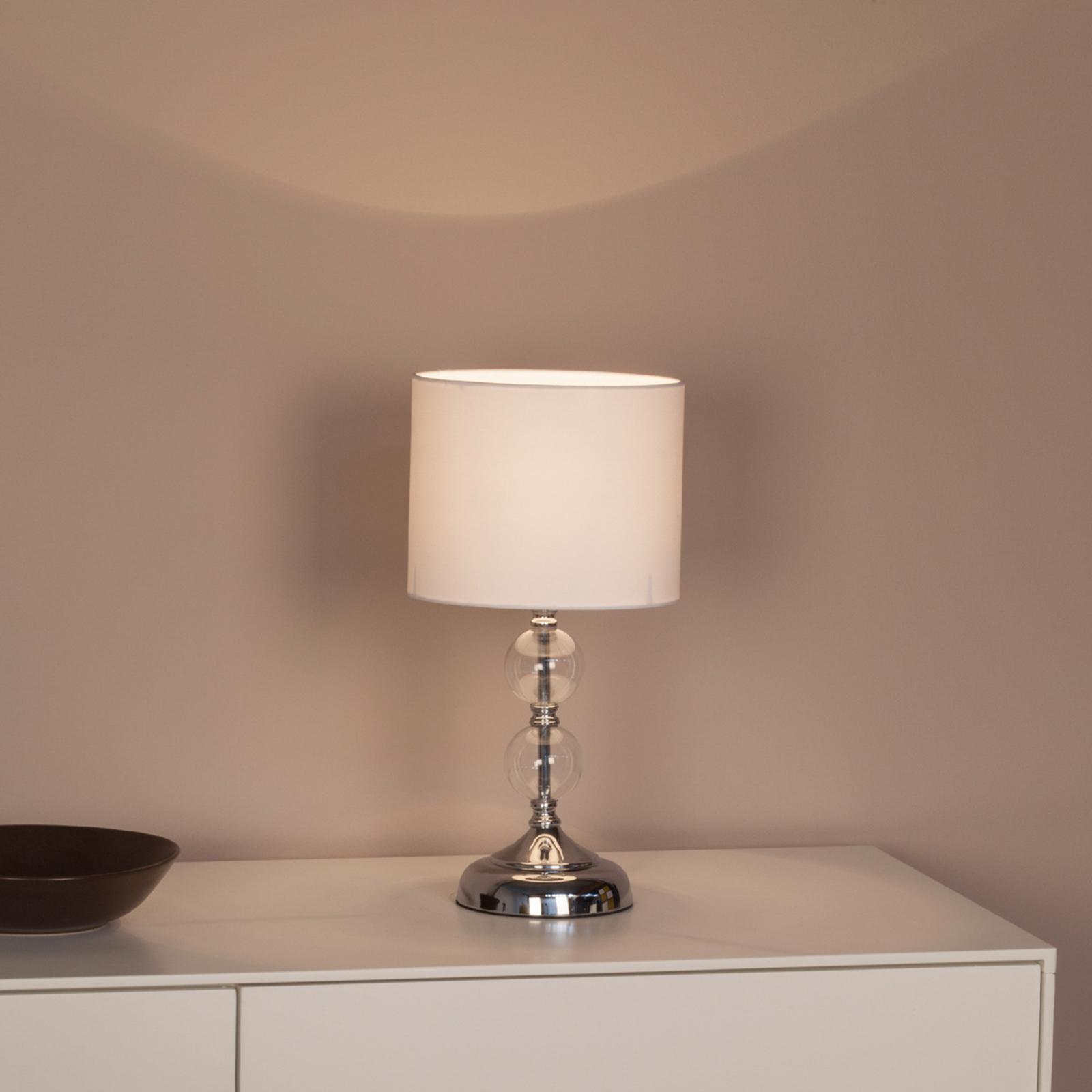Decoratieve tafellamp Rome met textielen kap