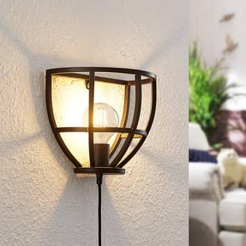 Lindby Rutger vägglampa med strömbrytare, kontakt