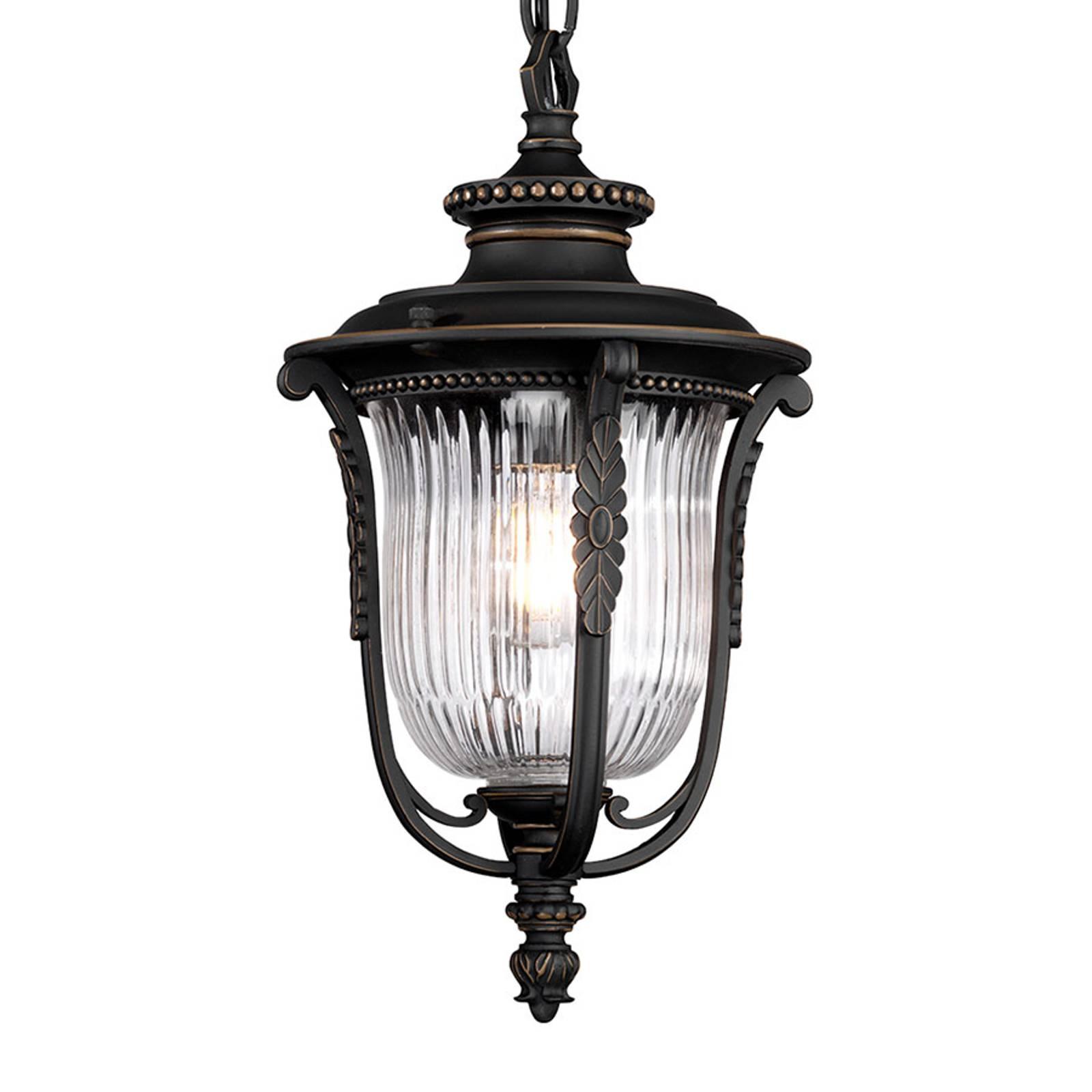 Lampa wisząca Luverne na zewnątrz