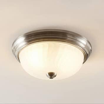 Lindby Pakka plafondlamp, nikkel satijn