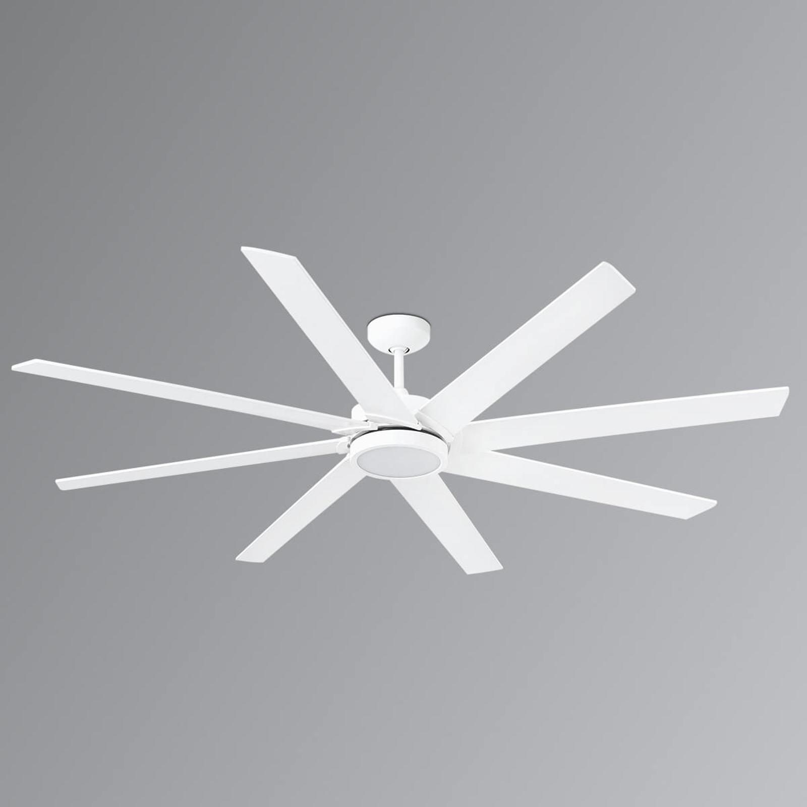 Achtflügeliger LED-Deckenventilator Century weiß