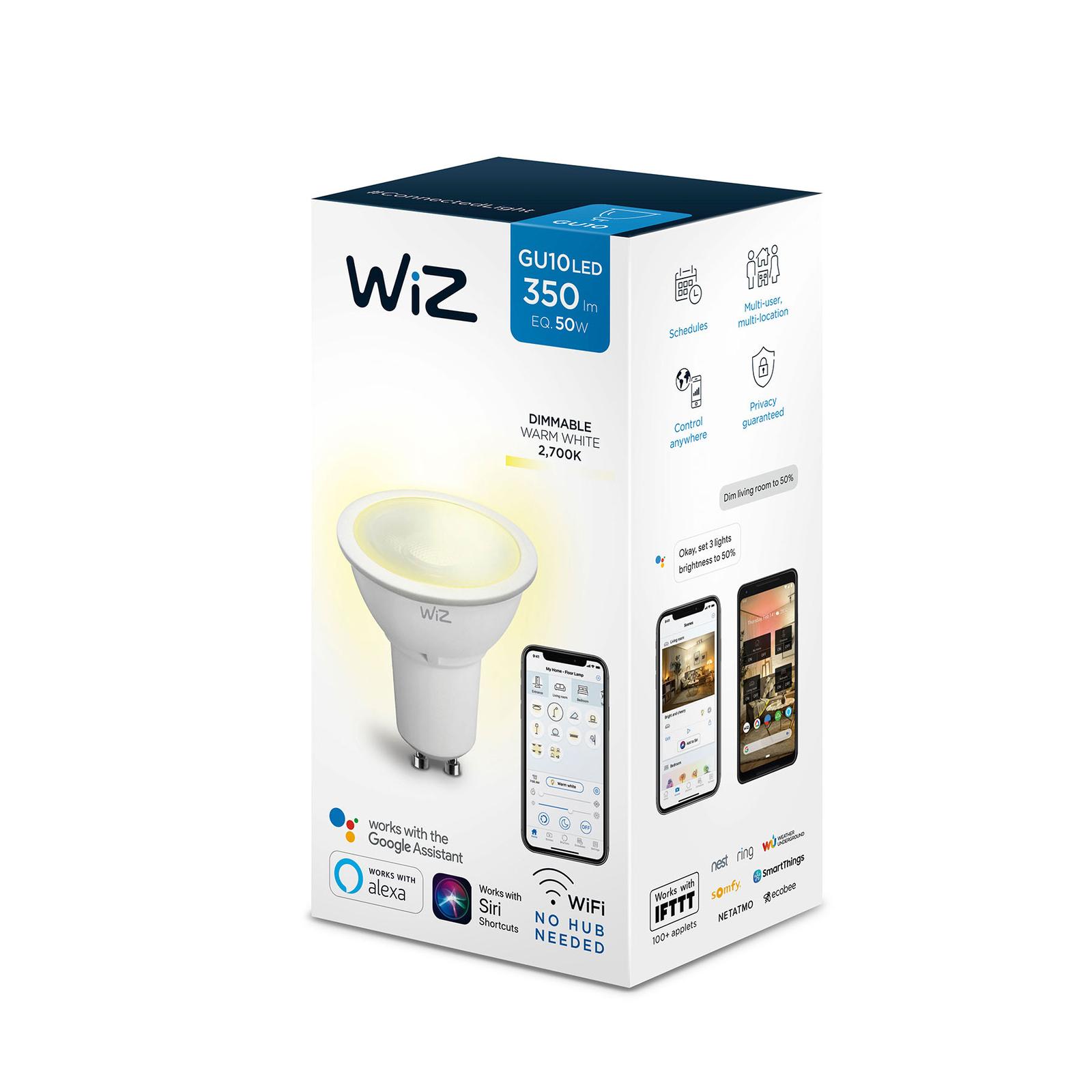 WiZ GU10 LED-Reflektor matt Ø5cm 9W 2.700K