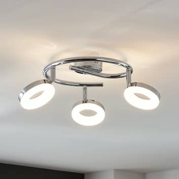 LED plafondlamp Ringo, 3-lamps, spiraal