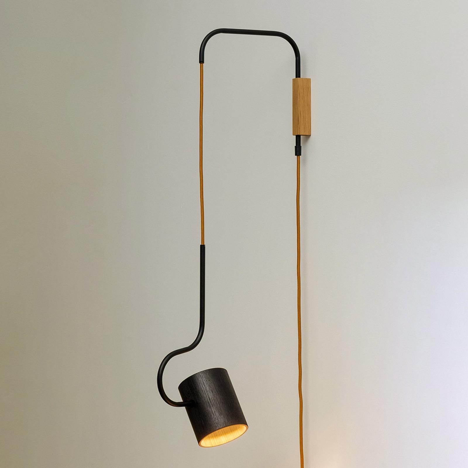 Vegglampe Bocal med hånddimmer og plugg
