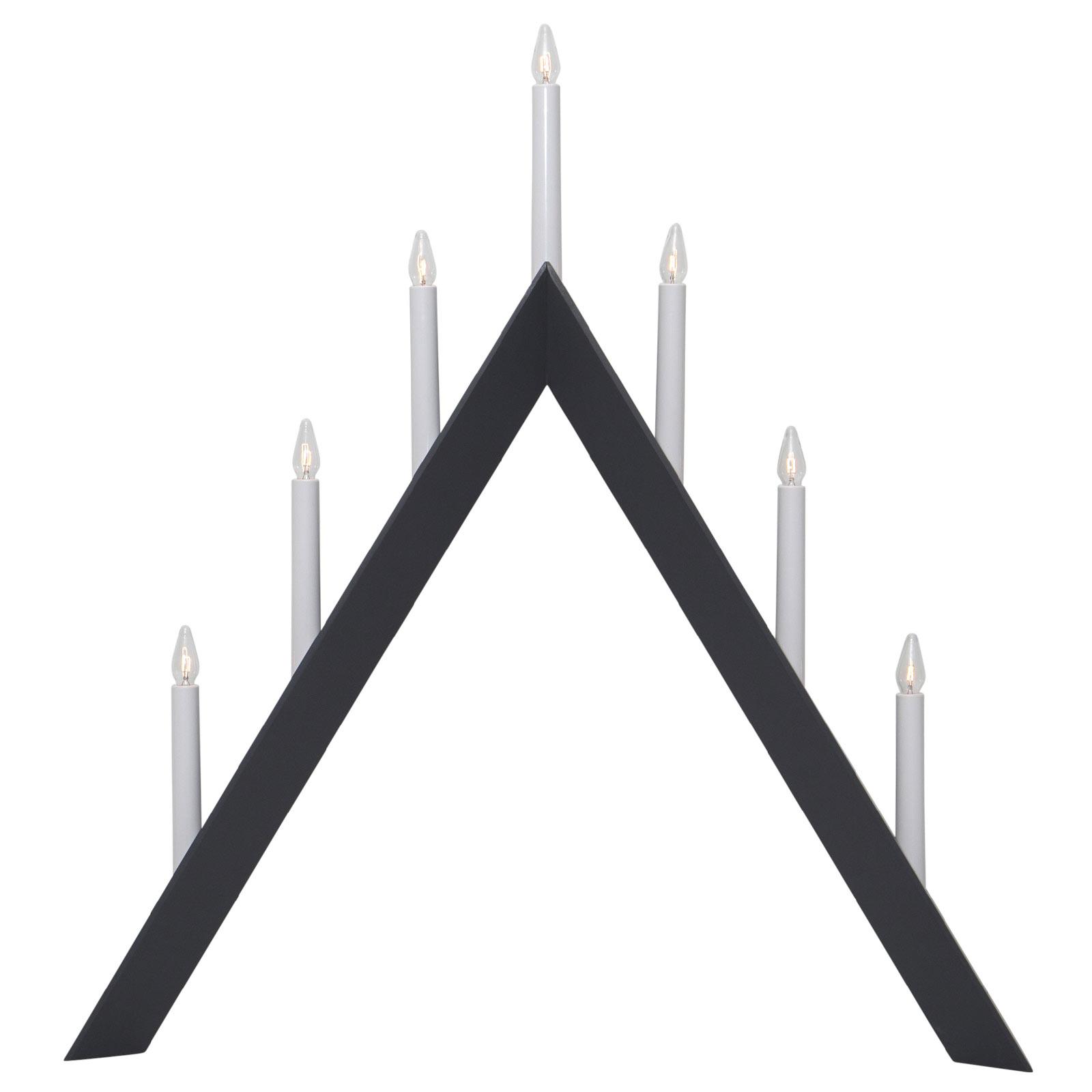 Kerzenleuchter Arrow, spitz, 7flammig, schwarz