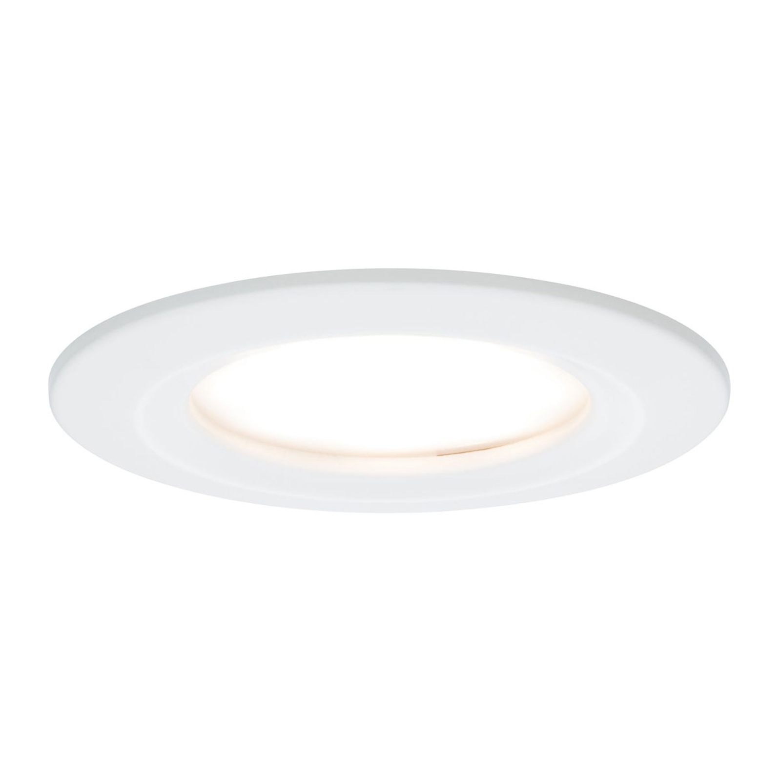 Paulmann lot 3 spots LED Slim Coin dimmable, blanc