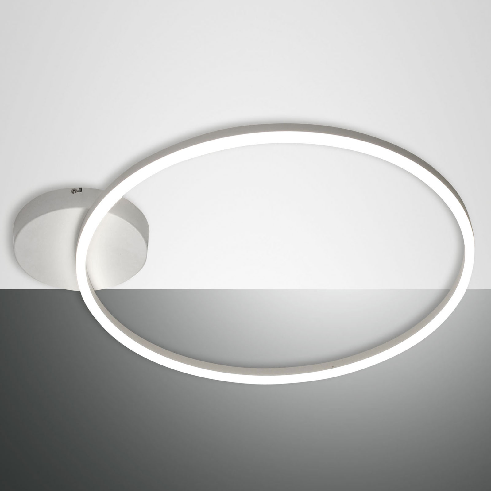 Plafonnier LED Giotto à 1 lampe, blanc