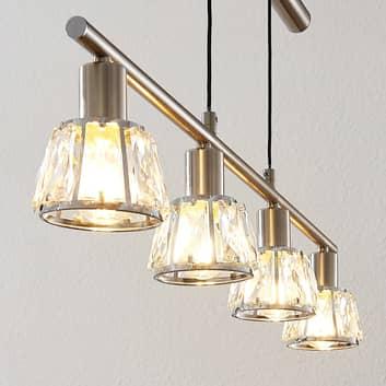 Lindby Kosta hanglamp, hoogteverstelbaar nikkel