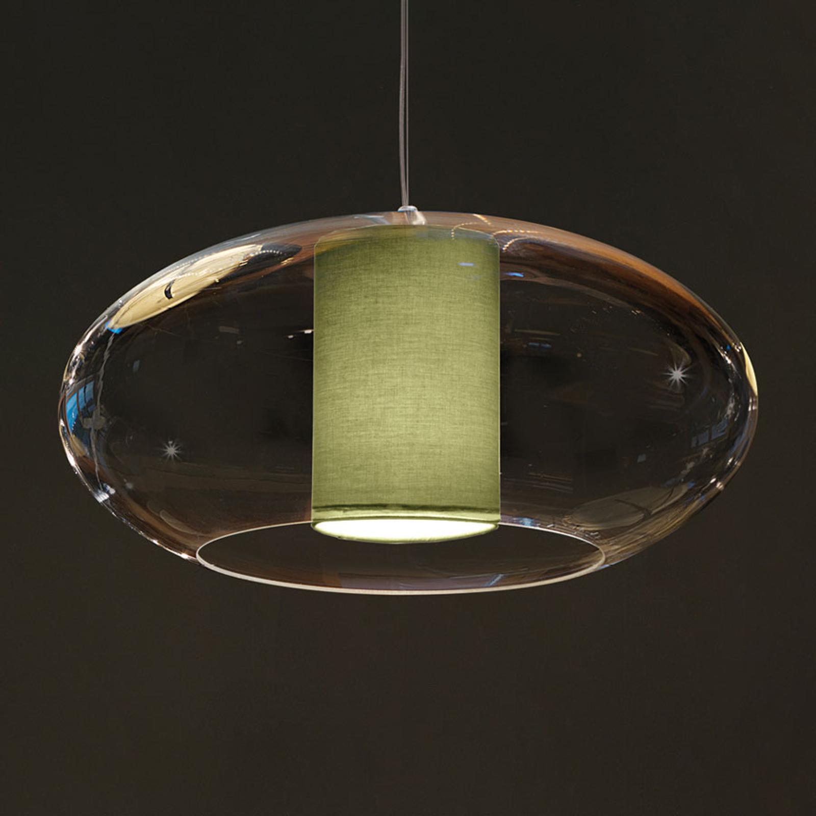 Modo Luce Ellisse lampa wisząca Ø 60 cm zielona
