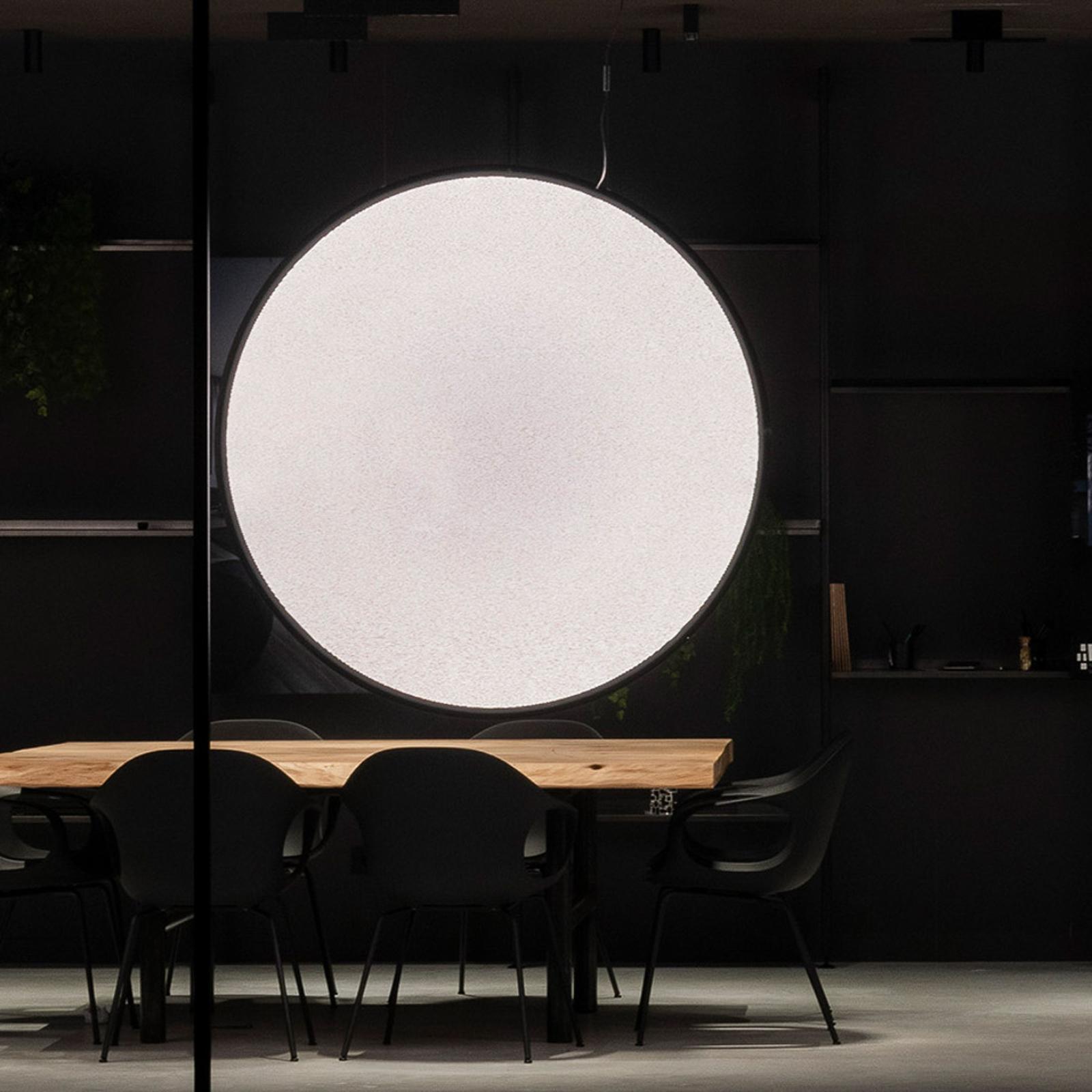 Artemide Discovery verticale noir Ø 70cm, appli