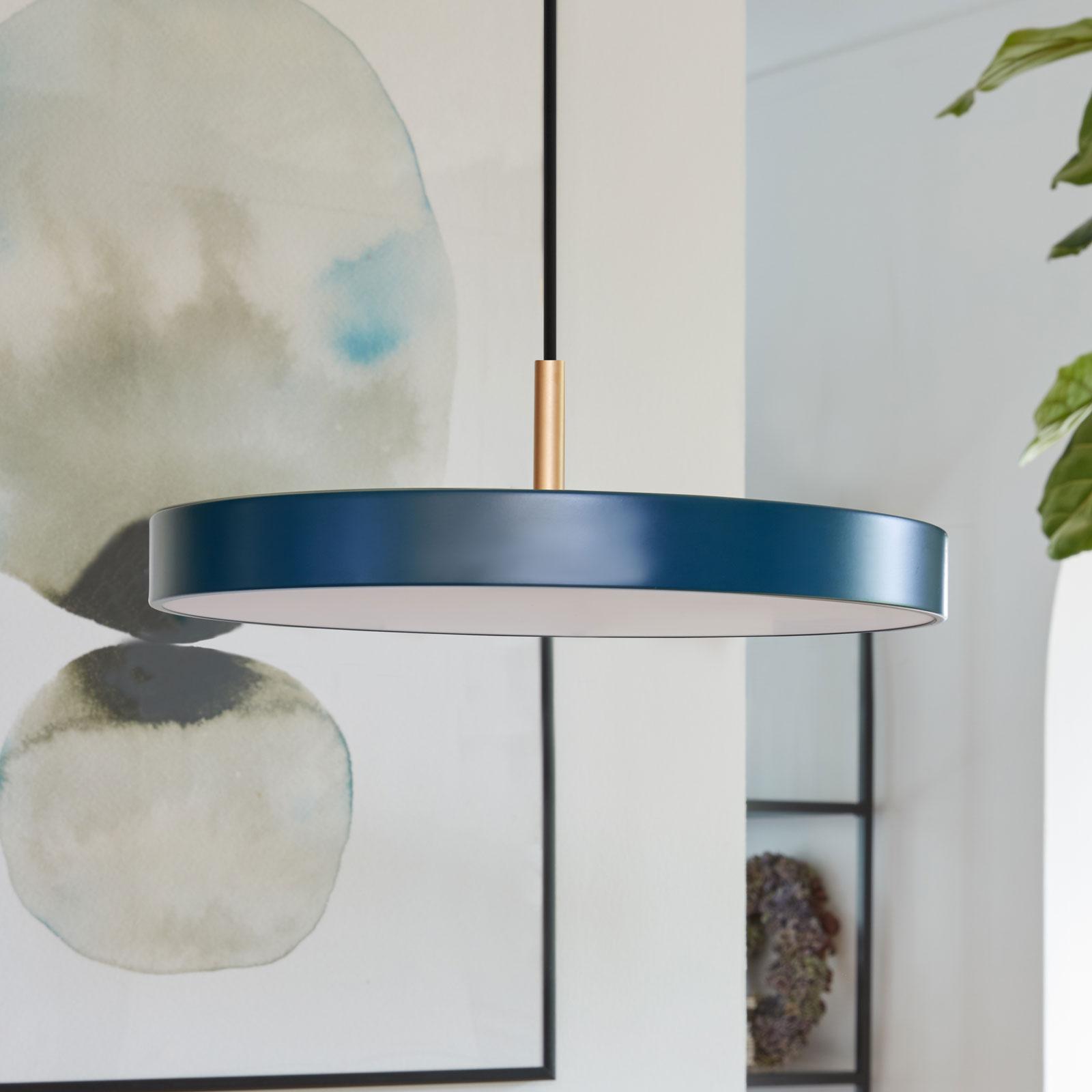 UMAGE Asteria mini lámpara colgante latón azul