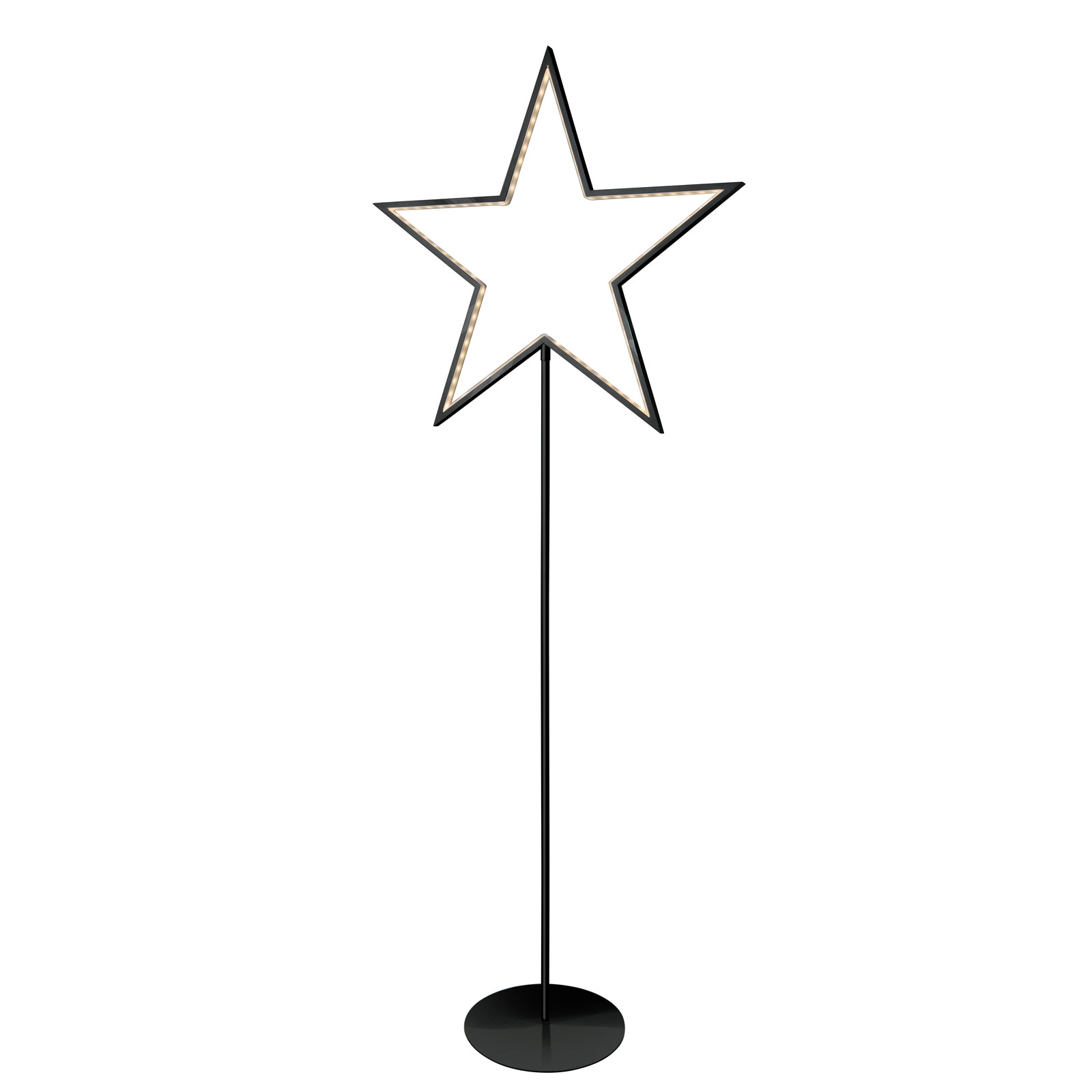 Lucy star decorative light, black, height 130 cm