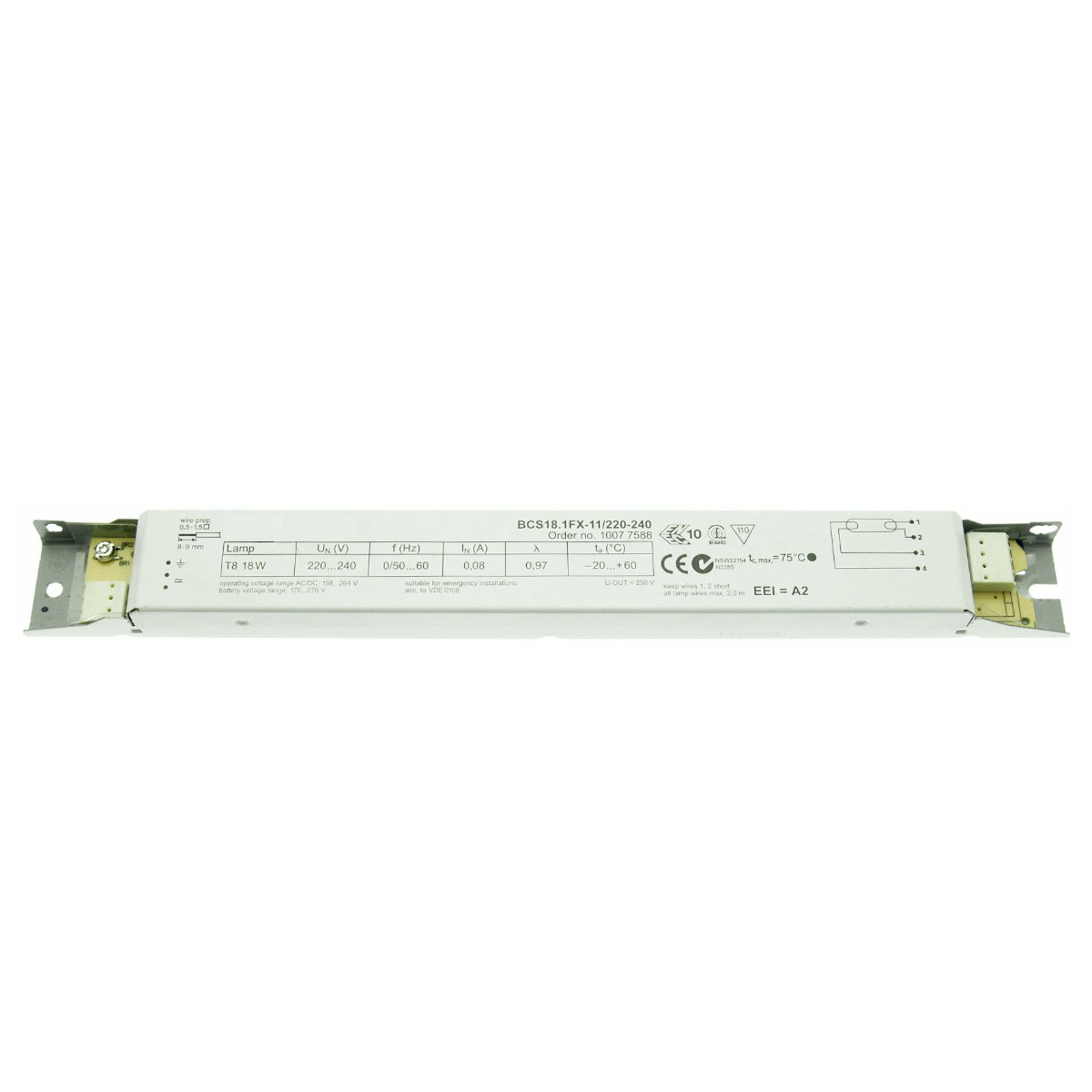 EVG 1 x 18W T8 BCS18.1FX-11/220-240 nicht dimmbar