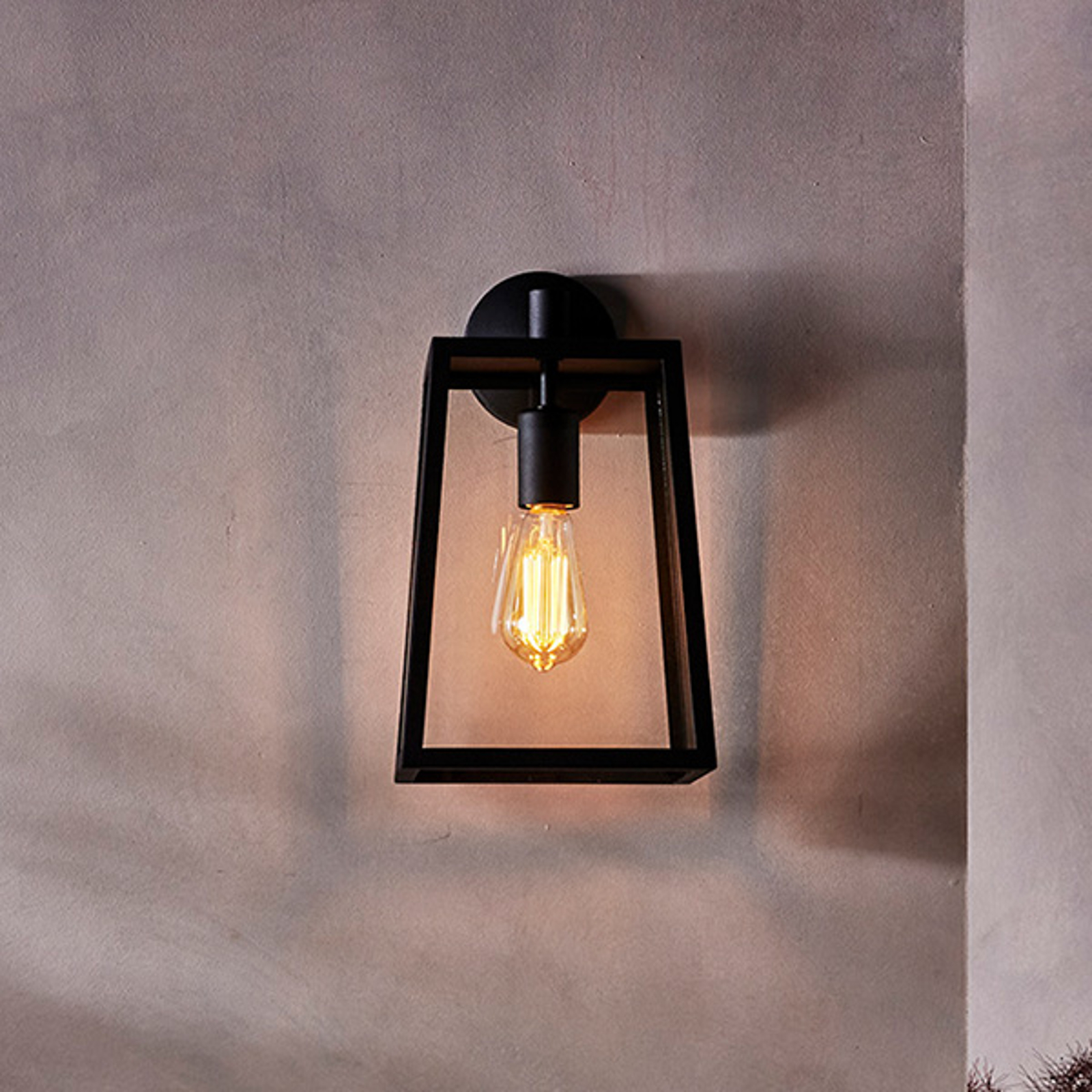 Astro Calvi - buitenwandlamp, 38,5 cm, zwart