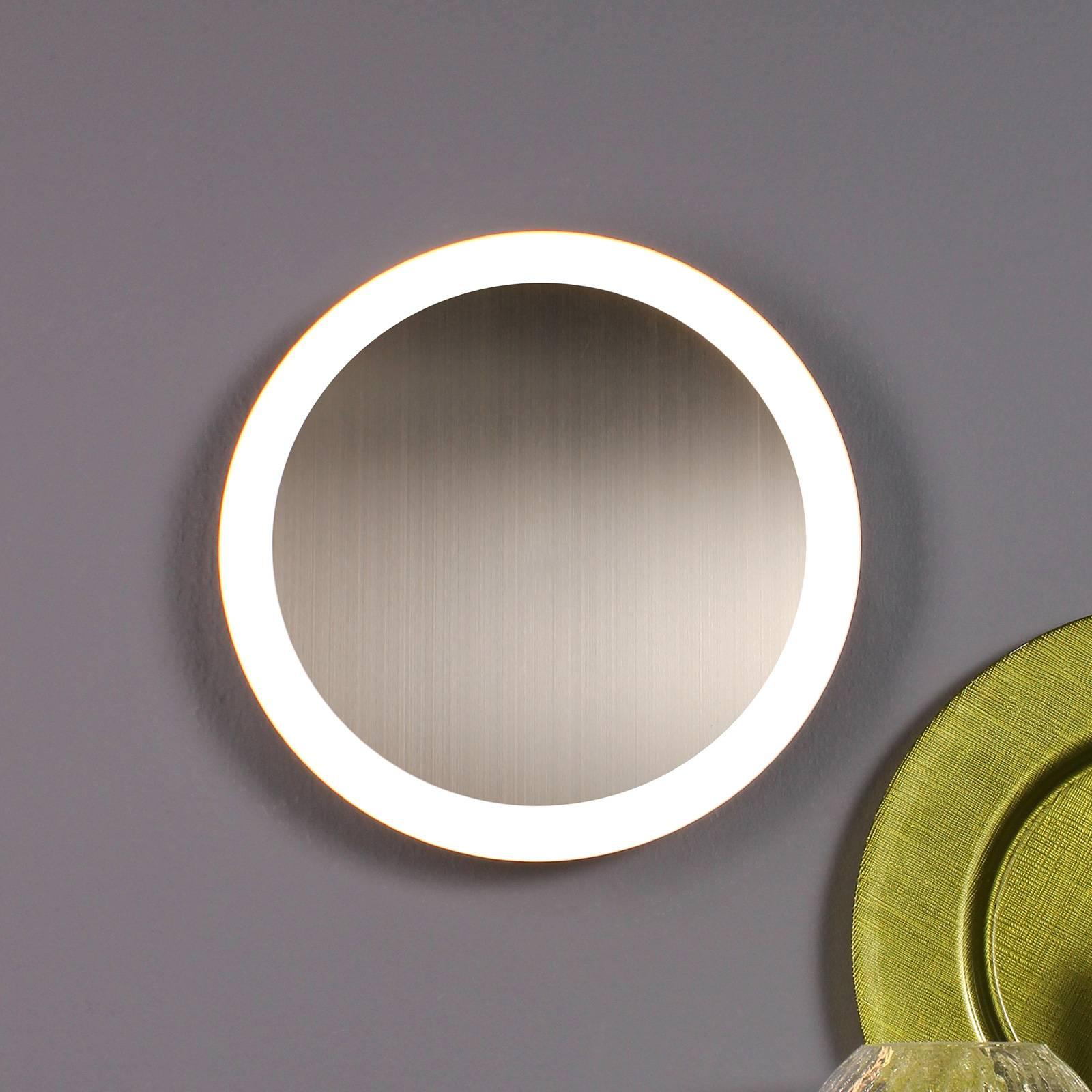 LED-wandlamp Moon Ø 50 cm, zilver