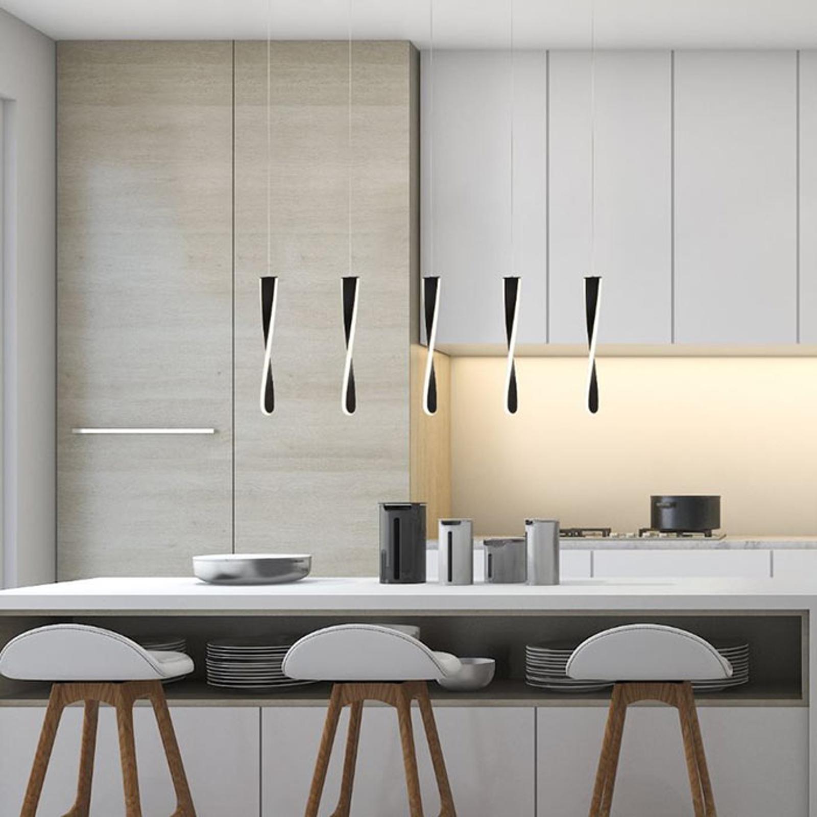 LED hanglamp Paddle, 5-lamps