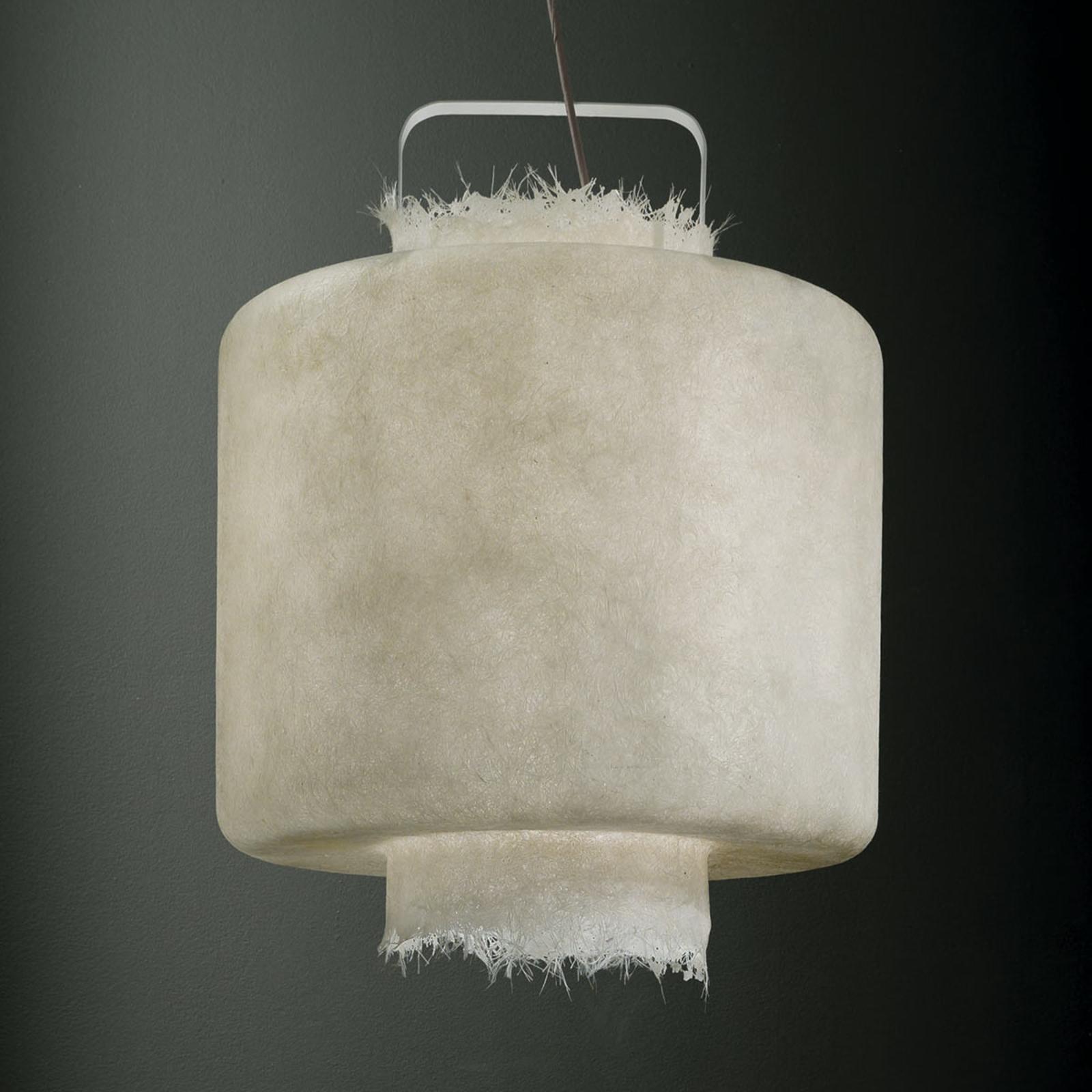 Karman Kimono - weiße LED-Hängeleuchte 50 cm