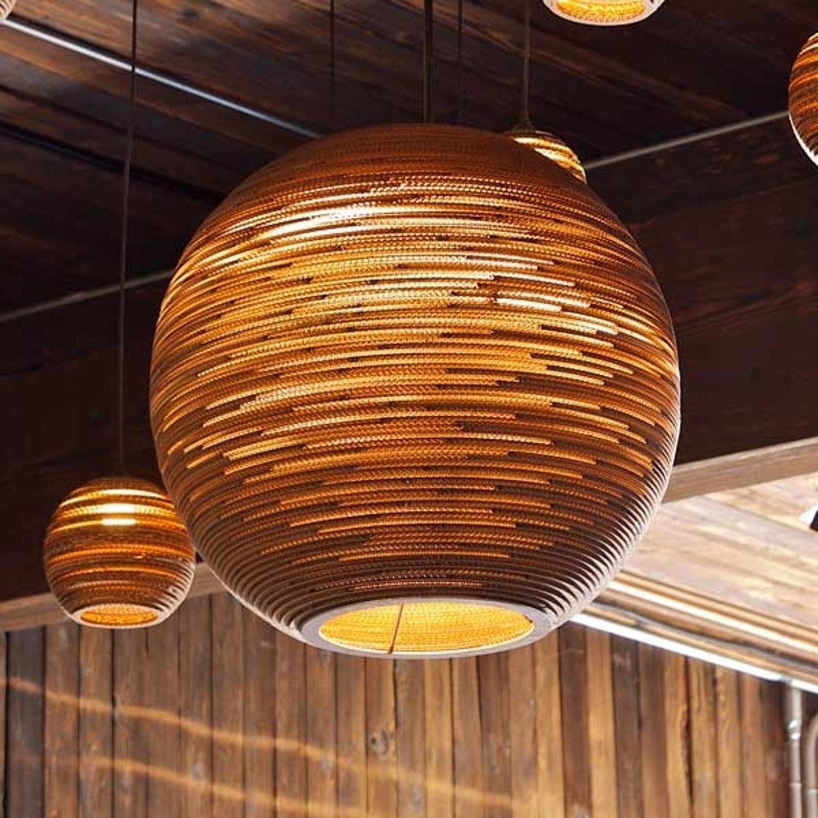 Ball okrągła lampa wisząca z kartonu 45 cm