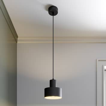 Lampa wisząca Rif z metalu, czarna, Ø 15 cm