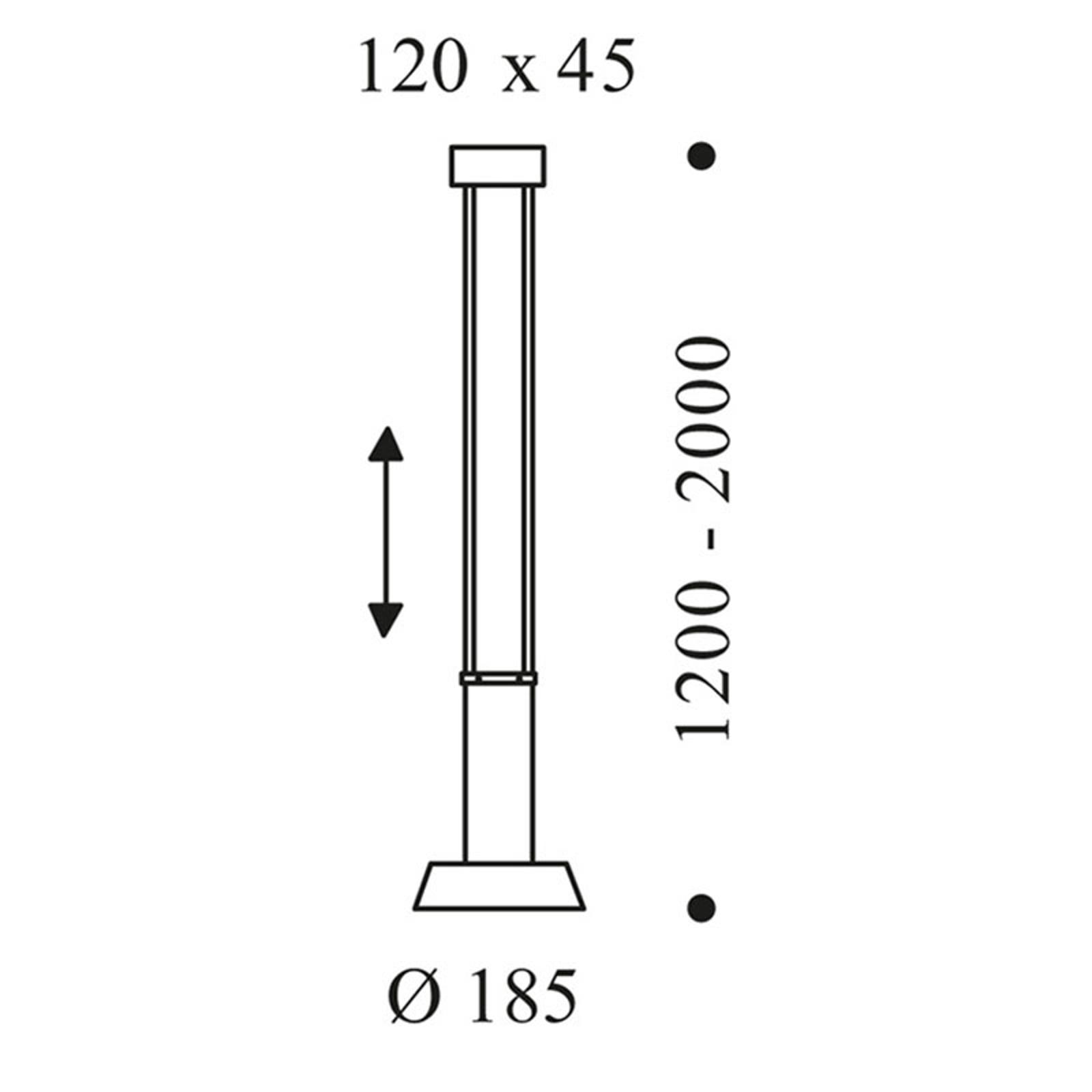 OLIGO Glance lampa wisząca LED 1-pkt. szara matowa