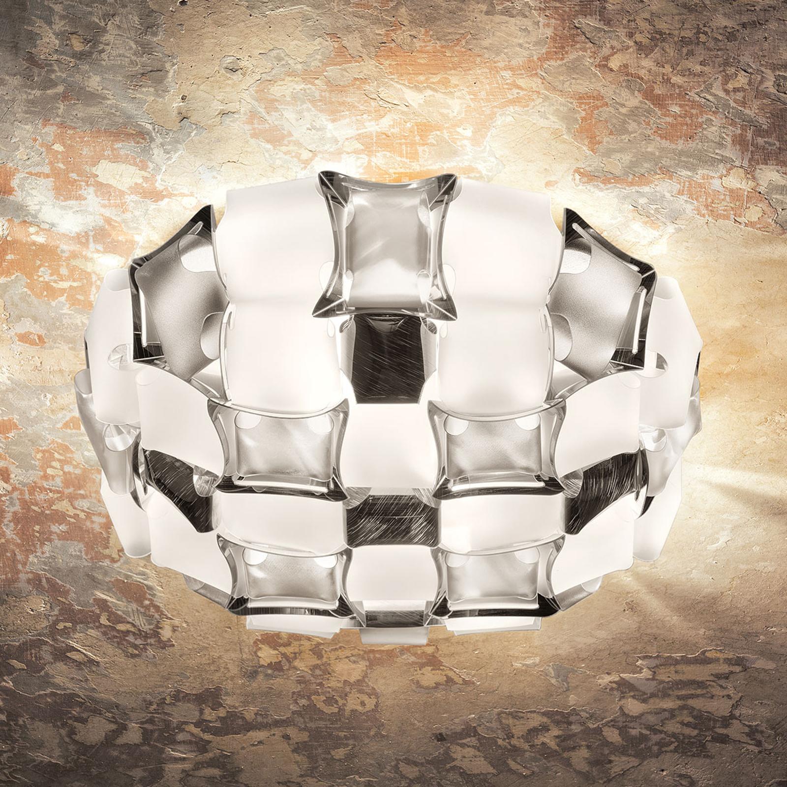 Slamp Mida plafondlamp, 50 cm, wit-platina