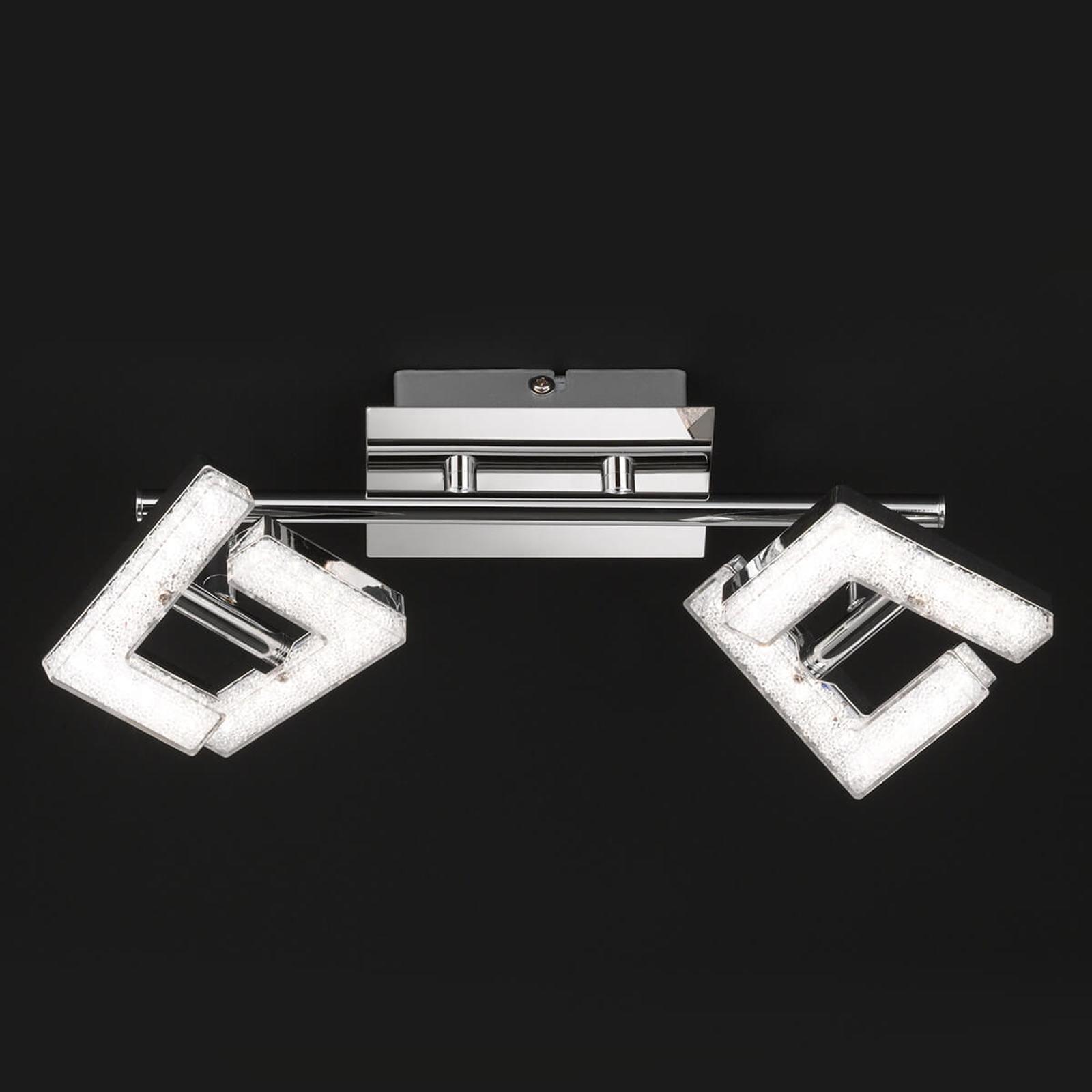 Justerbar LED-taklampa Lea, med kristalleffekt