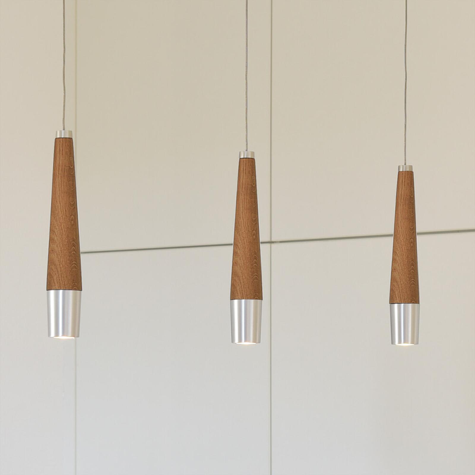 Ściemniana lampa wisząca LED Conico 3-punktowa