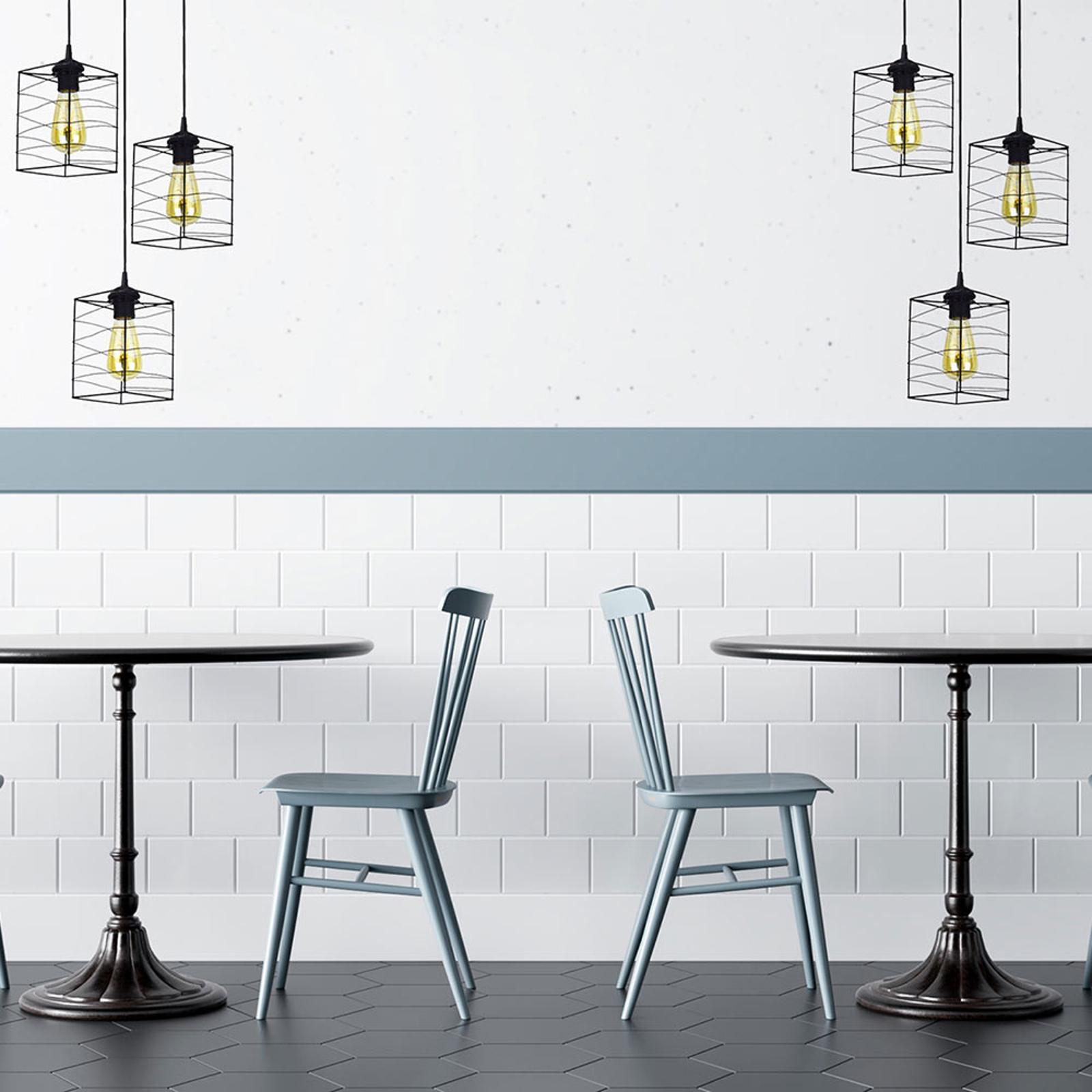 Suspension Dantos, à 3 lampes, noire