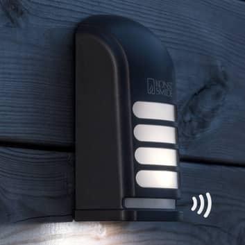 LED udendørs væg påbygningslampe Prato med sensor