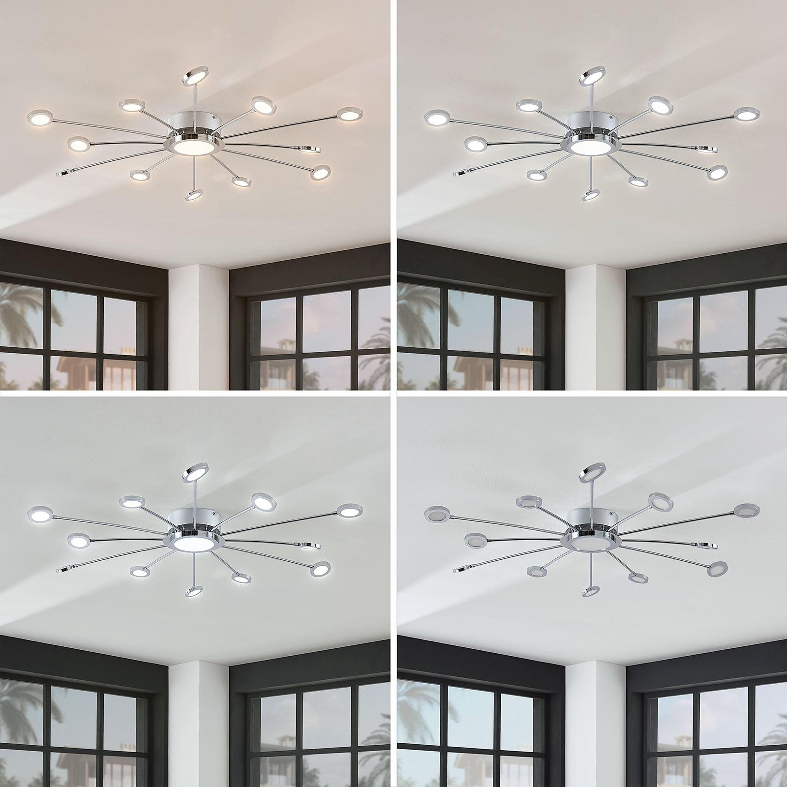 Große, helle LED-Deckenlampe Meru m. Fernbedienung