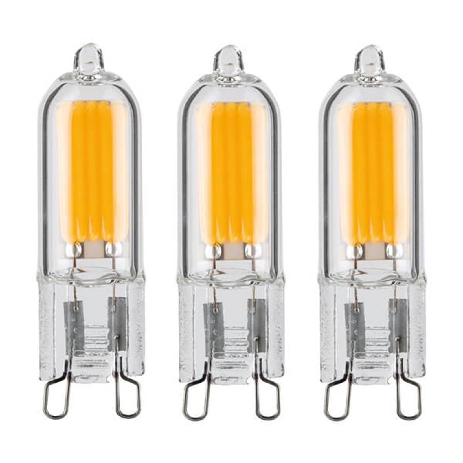LED-stiftsokkellampe G9 2W , varmhvid, 3er-sæt