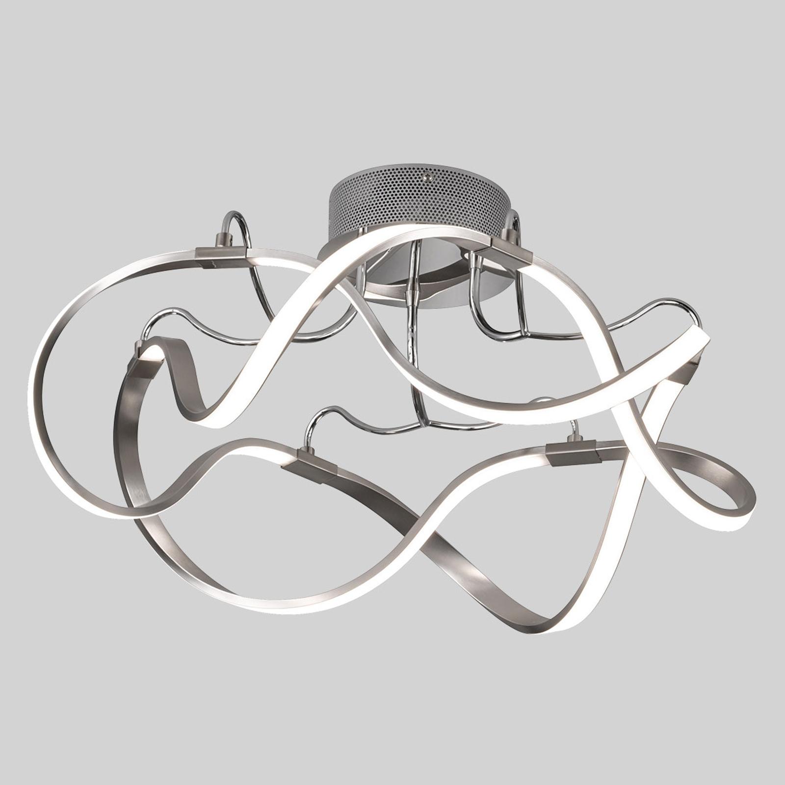 LED-taklampe Naxos dimbar med veggbryteren