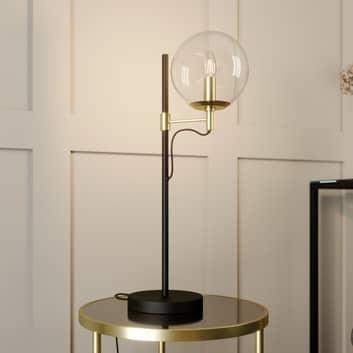 Lucande Sotiana stolní lampa, koule, mosaz