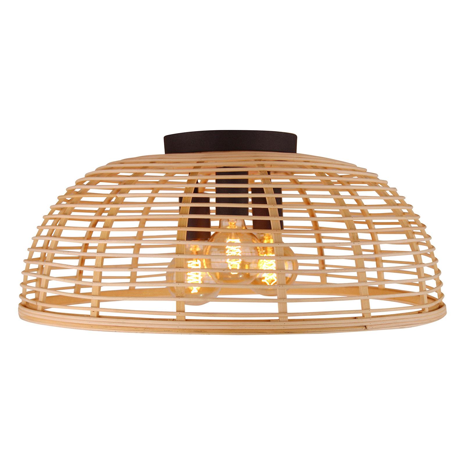 Crosstown loftlampe, åben lys bambusskærm